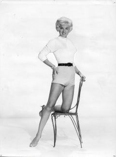 Diana Dors Posed with Chair Vintage Original Photograph
