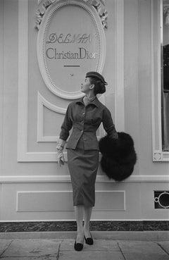 Dior Boutique in Paris (1953) - Silver Gelatin Fibre Print