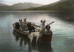 Dogs in Boat
