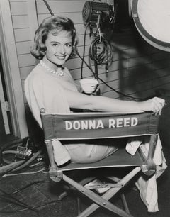 Donna Reed Smiling in Casting Chair Fine Art Print