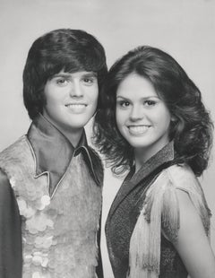 Donny and Marie Musical Duo Smiling Globe Photos Fine Art Print