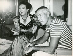 Dorothy Lemour and Lee Marvin - Original Vintage Photograph - 1962