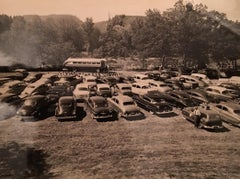 DRIVE-IN CHURCH - VINTAGE PHOTOGRAPH - BLACK & WHITE PHOTOGRAPHY