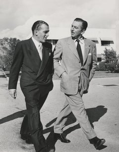 Ed Sullivan Walking with Walt Disney Fine Art Print
