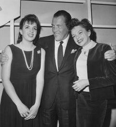 Ed Sullivan with Judy Garland and Liza Minelli Vintage Original Photograph