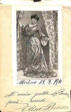 Elisa Bruno Autographed Photocard - 1910