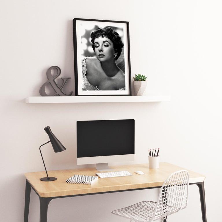 Elizabeth Taylor: Diamonds in the Studio Globe Photos Fine Art Print For Sale 2