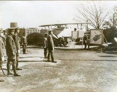 Emperor of Japan visiting Air Force - Vintage Photo 1938