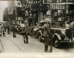 English Soldiers in Shanghai during occupation - Vintage Photo 1939