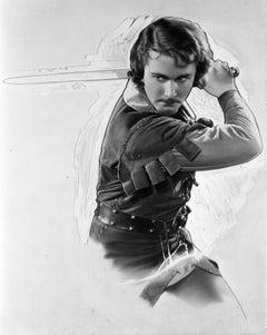 Errol Flynn Swinging Sword Fine Art Print