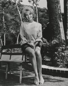 Eva Marie Saint Sitting Outdoors Fine Art Print