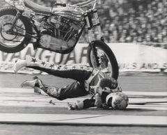 Evel Knievel Crashing Globe Photos Fine Art Print