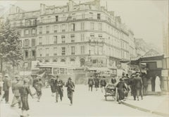 Faubourg du Temple in Paris, 1926 - Silver Gelatin Black and White Photograph