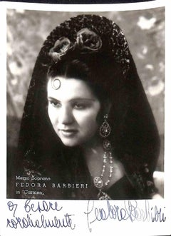 Fedora Barbieri Autographed Photograph -1950
