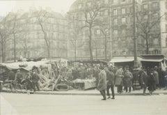 Flea Market in Paris, 1927 - Silver Gelatin Black and White Photograph