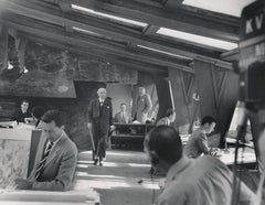 Frank Lloyd Wright: The Boss at His Architecture Firm Fine Art Print