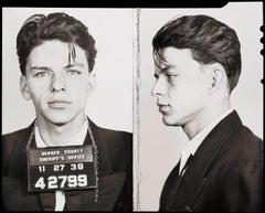 Frank Sinatra Mug Shot - Front and Side - 1938