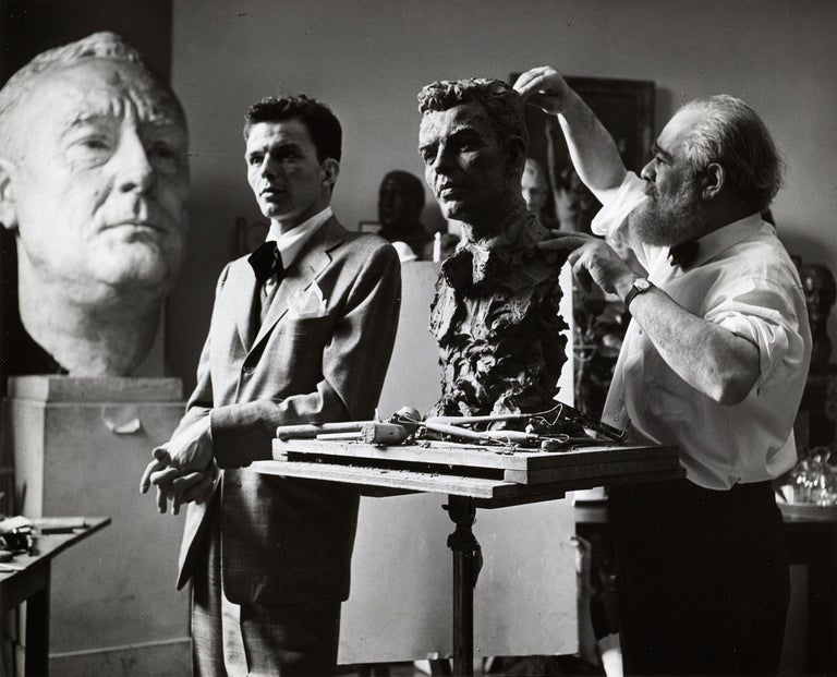 Unknown Black and White Photograph - Frank Sinatra - Study for a Bronze Bust