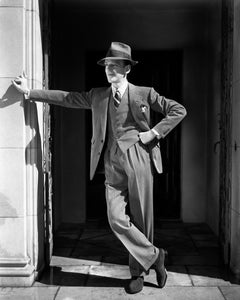 Fred Astaire Leaning Outdoors Movie Star News Fine Art Print