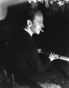 Fred Astaire Playing Piano and Smoking Movie Star News Fine Art Print