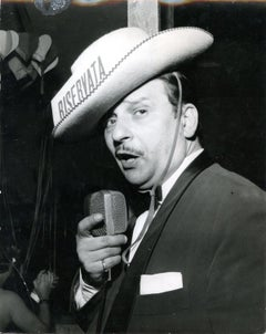 Fred Buscaglione by Giancolombo - Vintage b/w Photo - 1950s
