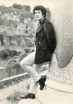 Full Portrait of Italian Singer Lucio Battisti - Vintage Photo - Late 1960s