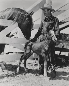 Gene Autry with Horses Fine Art Print