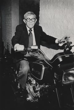 George Burns: Famed Comedian on Motorcycle Fine Art Print