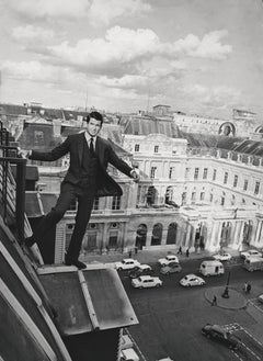 George Hamilton on Rooftop Globe Photos Fine Art Print