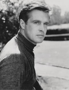 George Peppard: Handsome Star Outdoors Globe Photos Fine Art Print