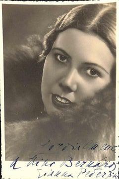 Gianna Pederzini Autographed Photograph - 1940