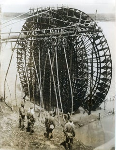 Giant hydro-pump in Hainan - Vintage Photo 1939