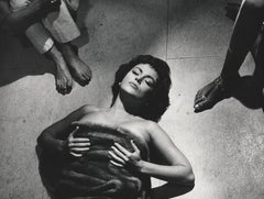 Gina Lollobrigida Lying on the Floor Fine Art Print