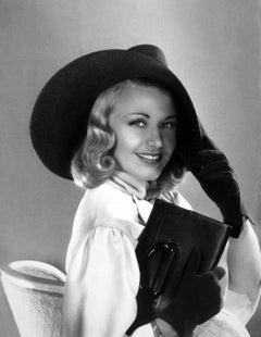 Ginger Rogers Glamour Portrait in Hat Globe Photos Fine Art Print