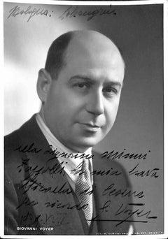 Giovanni Voyer Autographed Photograph - 1939