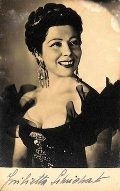 Giulietta Simionato Autographed Photograph - 1940