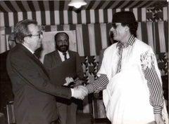 Giulio Andreotti and Gaddafi's - Vintage B/W Photograph - 1970s