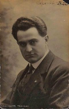 Giuseppe Taccani Autographed Photograph - 1920