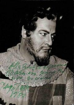 Giuseppe Taddei Autographed Photograph - 1987