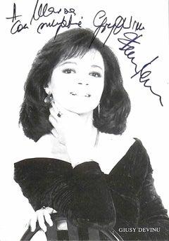 Giusy Devinu Autographed Photograph - 1980s