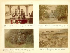 Glimpses of Japanese Shrines in Kyoto - Ancient Albumen Print 1870/1890