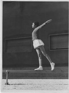Gymnastics in a Stadium during Fascism in Italy - Vintage b/w Photo - 1934 c.a.