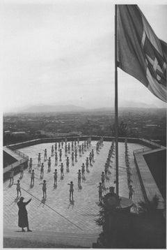 Gymnastics in a Stadium During Fascism in Italy - Vintage b/w Photo - 1934