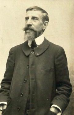 Henri Duhem - Black & White Photo Portrait of Impressionist Painter Henri Duhem