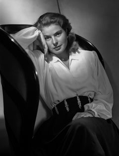 Ingrid Bergman Leaning in Chair Movie Star News Fine Art Print