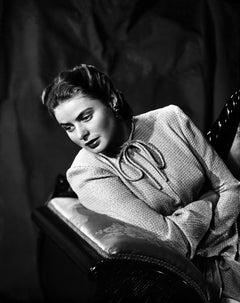 Ingrid Bergman Leaning in Dramatic Portrait Movie Star News Fine Art Print