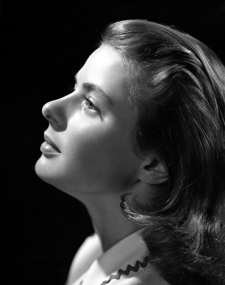 Unknown Black and White Photograph - Ingrid Bergman: Looking Up Fine Art Print