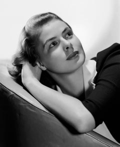 Ingrid Bergman Looking Up Globe Photos Fine Art Print