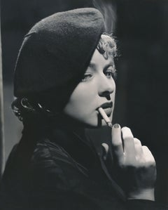 Ingrid Bergman Smoking Fine Art Print