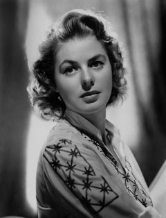 Ingrid Bergman Stunning Glamour Portrait Globe Photos Fine Art Print